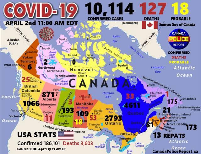 CoronaVirus - Canada -