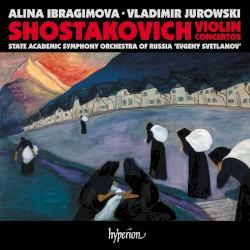 """Violin Concertos by Shostakovich ;   Alina Ibragimova ,   State Academic Symphony Orchestra of Russia """"Evgeny Svetlanov"""" ,   Vladimir Jurowski"""